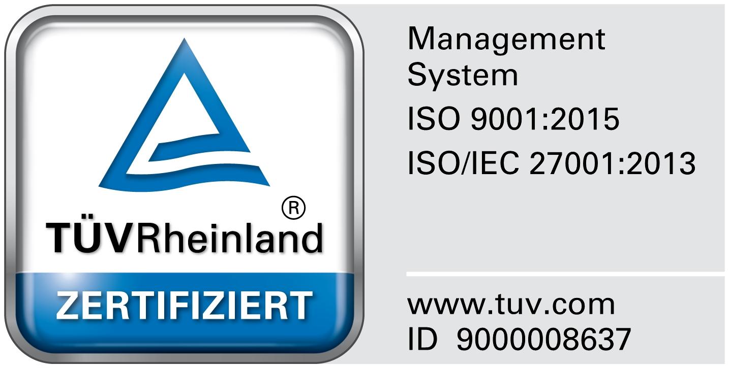 A. Eberle TÜV Rheinland zertifiziert